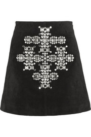 Saint Laurent Studded suede mini skirt