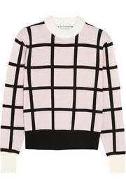 J.W.Anderson Checked merino wool sweater