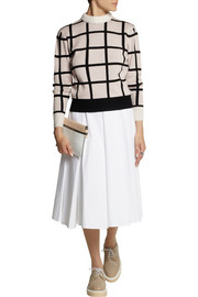 J.W.Anderson Pleated cotton-jacquard midi skirt