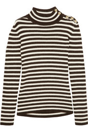 Bouchra Jarrar Striped wool and alpaca-blend sweater