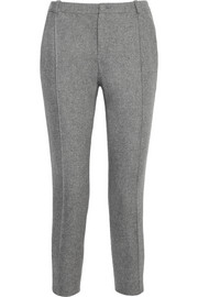 Bouchra Jarrar Cropped striped wool slim-fit pants