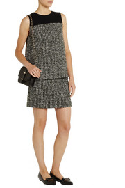 Bouchra Jarrar Bouclé-tweed and crepe top