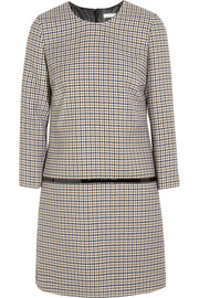 Bouchra Jarrar Sherlock patent-trimmed wool-tweed mini dress