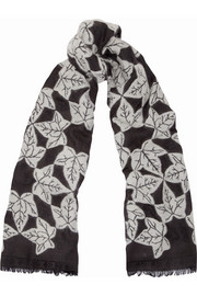 Alexander McQueen Ivy-jacquard scarf