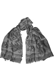 Alexander McQueen Fairytale jacquard-knit cashmere scarf