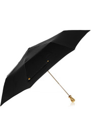 Gold-tone skull-embellished umbrella