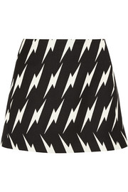 Neil Barrett Lightning-jacquard mini skirt
