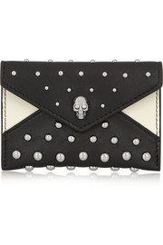 Alexander McQueen Studded leather cardholder