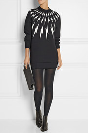 Neil Barrett Printed neoprene sweatshirt mini dress