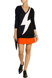 Neil Barrett Wool-blend mini skirt