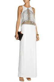 Sass & bide Embellished linen-blend maxi dress