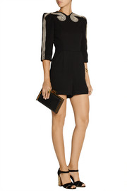 Sass & bide Two Ships embellished crepe playsuit