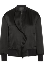 Neil Barrett Ruffled satin bomber jacket