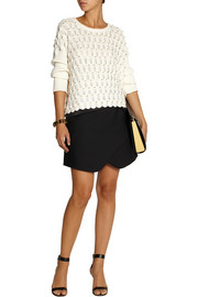 Sass & bide The Cover-Up embellished open-knit cotton sweater