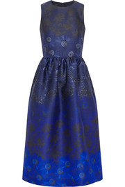 Mother of Pearl Alana printed wool and silk-blend midi dress
