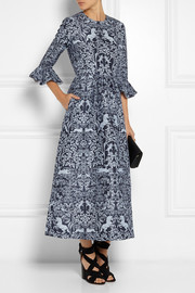 Mother of Pearl Lyra printed wool and silk-blend maxi dress