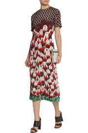 Mother of Pearl Irvetta printed silk midi dress