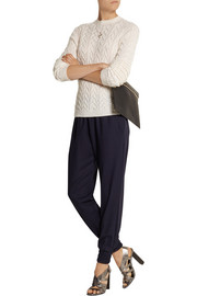 Mother of Pearl Rhea wool-crepe track pants
