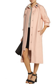 Mother of Pearl Madison embellished houndstooth wool coat