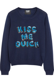 Markus Lupfer Kiss Me Quick sequined merino wool sweater