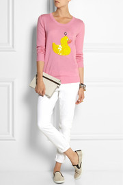 Markus Lupfer Hook a Duck sequined merino wool sweater