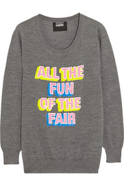 Markus Lupfer All the Fun of the Fair sequined merino wool sweater