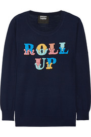 Markus Lupfer Roll Up sequined merino wool sweater