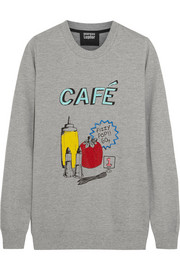 British Café sequined cotton-terry sweatshirt