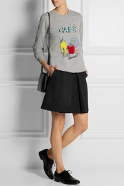 Markus Lupfer British Café sequined cotton-jersey sweatshirt