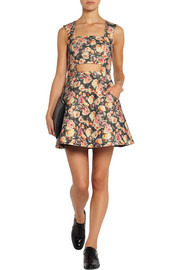Markus Lupfer English Rose Olivia printed wool-blend mini dress
