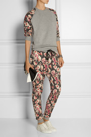 Markus Lupfer English Rose printed cotton-terry track pants