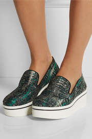 Stella McCartney Jacquard slip-on sneakers