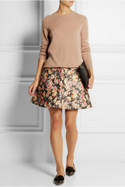 Markus Lupfer English Rose Charlotte wool-blend mini skirt