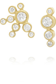 Sophie Bille Brahe Falcon 18-karat gold diamond earrings