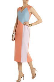 Roksanda Ilincic Crepe and taffeta-paneled wool-blend twill dress