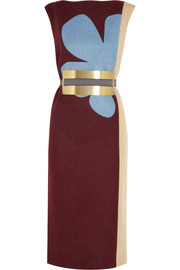 Roksanda Ilincic Lea color-block wool-felt dress