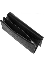 Saint Laurent Crocodile-effect leather wallet