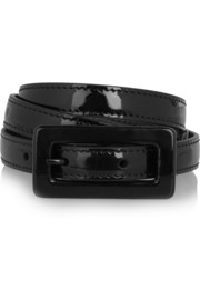 Saint Laurent Patent-leather skinny belt