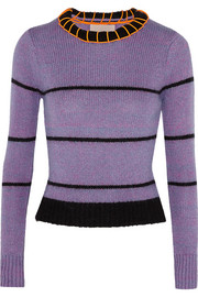 Roksanda Ilincic Laurie cropped striped knitted sweater