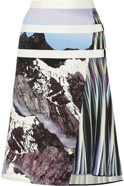 Peter Pilotto Printed stretch woven skirt