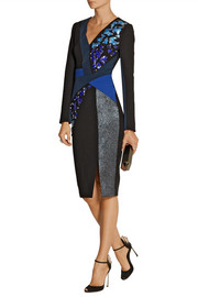 Peter Pilotto Aro embellished wool and crepe dress