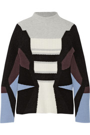 Peter Pilotto Textured wool-blend turtleneck sweater