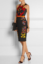 Peter Pilotto Lera embellished wool, crepe and velvet dress