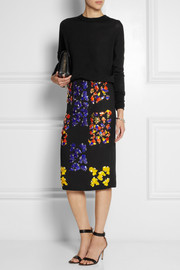 Peter Pilotto Cam embellished wool-crepe skirt