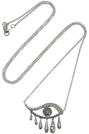 Ileana Makri Oxidized 18-karat white gold multi-stone necklace