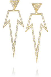 Ileana Makri Bermuda 18-karat gold diamond earrings
