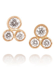 Ileana Makri 18-karat rose gold diamond earrings