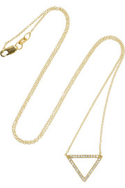 Ileana Makri Triangle 18-karat gold diamond necklace
