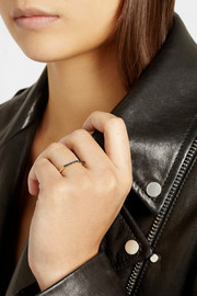 Ileana Makri Hexagonal 18-karat gold diamond ring