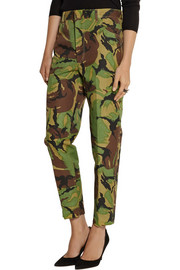Toga Camouflage-print high-rise slim-leg jeans